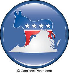 Democrat Virginia Button