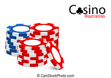 Casino illustration - Casino vector illustration (some chips...