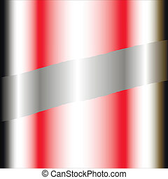 Business background silver and red