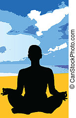 yoga girl black silhouette