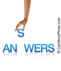 Answers - Hand - High resolution graphic of a hand holding...