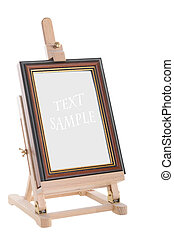 Easel isolated on white - Wooden easel isolated on white...