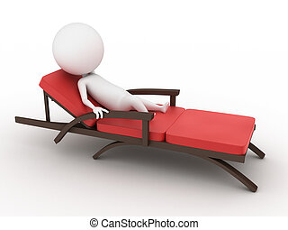 guy on a deck chair