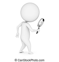 guy with a magnifier