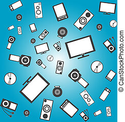 seamless electronic products background - seamless...