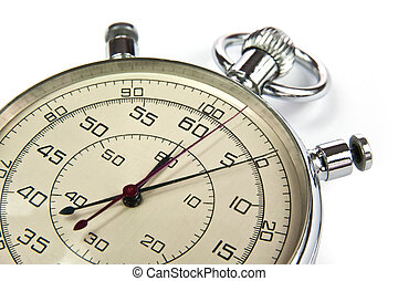 Analog stopwatch isolated on a white background