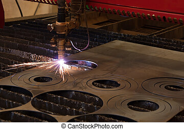 Plasma cutting - Automated plasma metal cutting torch