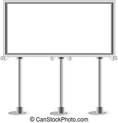 advertisement empty Billboard. Vector