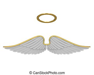 Robes angel isolated on a white background
