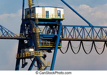 Crane in Sestao, Bizkaia, Spain
