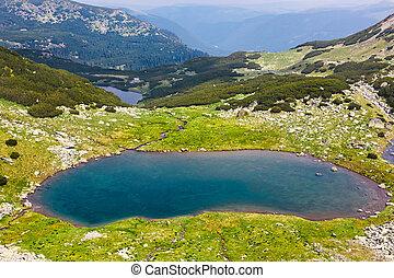 Glacial Lake Vidal in Parang mountains, Romania