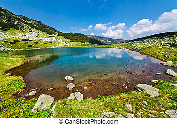 Glacial Lake Vidal in Parang mountains, Romania
