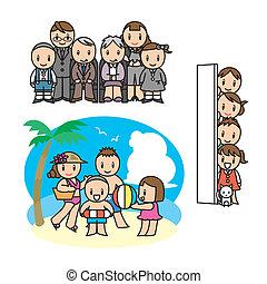 Family illust set