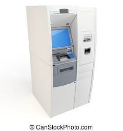 3d atm machine detailed isolated on white