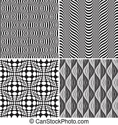 Seamless Op Art Background Pattern