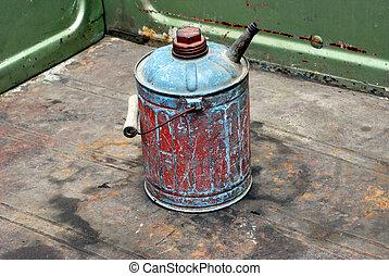 Vintage gasoline can.