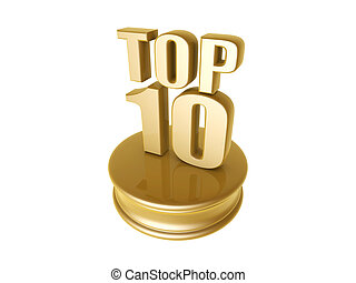 top ten in rank list - golden top ten in rank list trophy...