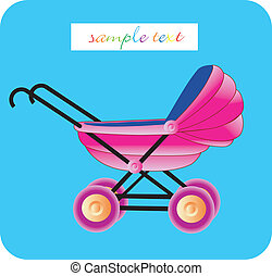 Baby arrival - illustration of a baby card, baby arrival