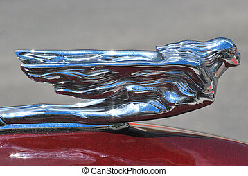 Hood ornament - Hood ornament on a classic car