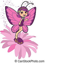Butterfly Fairy - Cute butterfly fairy making happiness...