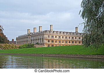 Clare college and river Cam in Cambridge, UK