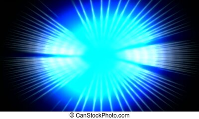 dazzling blue ray light pulse and fiber optic in...