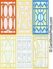Stained-glass windows.