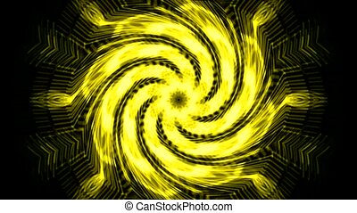 swirl golden cyclone and rays laser