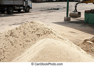 Sand pit and tons of sand