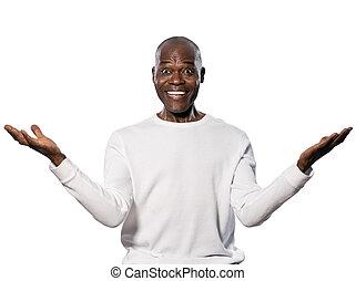 Portrait of an excited mature man - Portrait of an excited...
