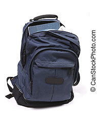 Heavy study load in backpack - Backpack full with study...