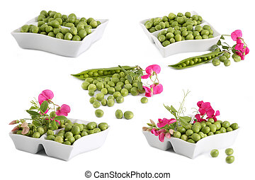 green peas collage