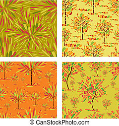 patterns with decorative tree from