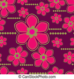 Seamless floral pattern with lilly - Vector Seamless floral...