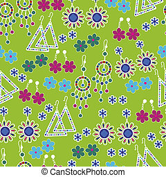 Vector seamless pattern of fashion