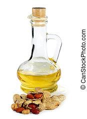 aceite, vasija, cacahuetes