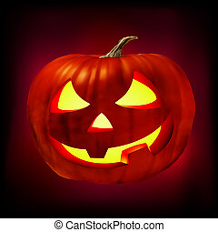 Scary Jack O Lantern vector file included