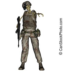 Undead Desert Soldier Skeleton - Undead desert soldier...