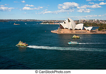 opera house - SYDNEY, AUSTRALIA AUGUST 17: View of the Opera...