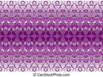Violet ornamental pattern