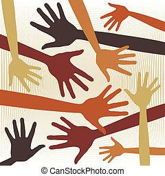 Hand pattern design.