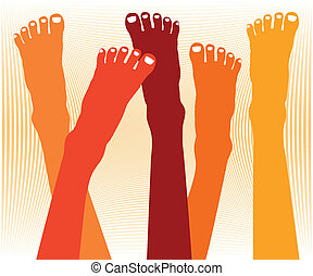 Healthy feet vector - Healthy feet vector design
