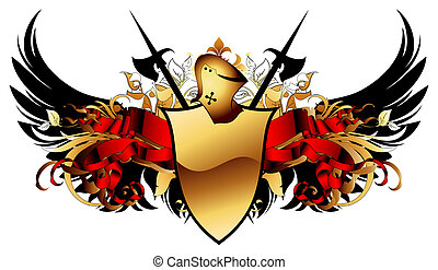 ornamental shield, this illustration may be useful as...