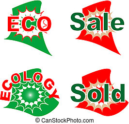 label eco and sale set