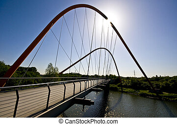 Nordsternpark Bridge - famous bridge crossing the...