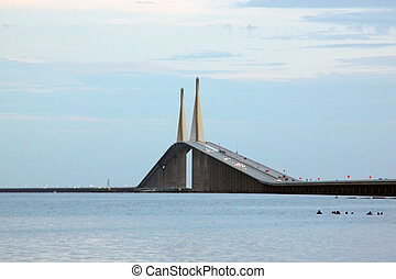 Skyway Bridge, FL - taken in floridas west coast town of st...