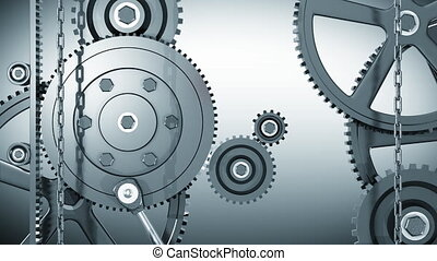 Gears transition - Gears working transition HD with alpha