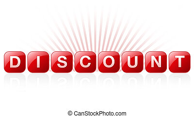 Discount Sign - High resolution promotional graphic with the...