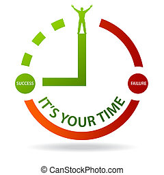 Its Your Time - Success - High resolution graphic of a clock...