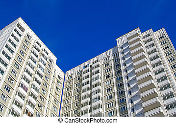 Modern high rise building - A modern high rise building with...